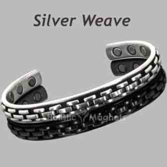copper core magnetic bracelet silver weave