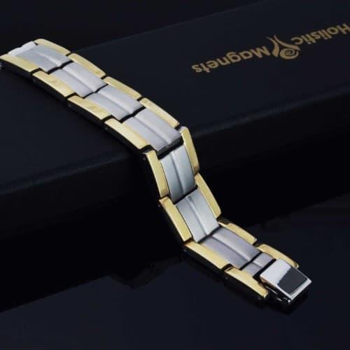 titanium magnetic bracelet pain relief magnetic therapy mens tt 30