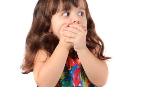 Child afraid of the dentist