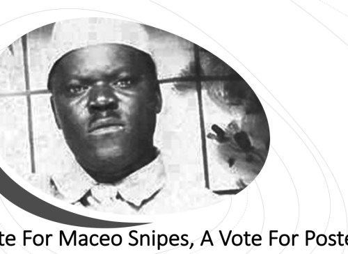 Maceo Snipes he voted for freedom and posterity