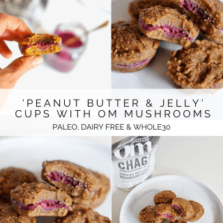 'Peanut Butter & Jelly' Cups with Om Mushrooms