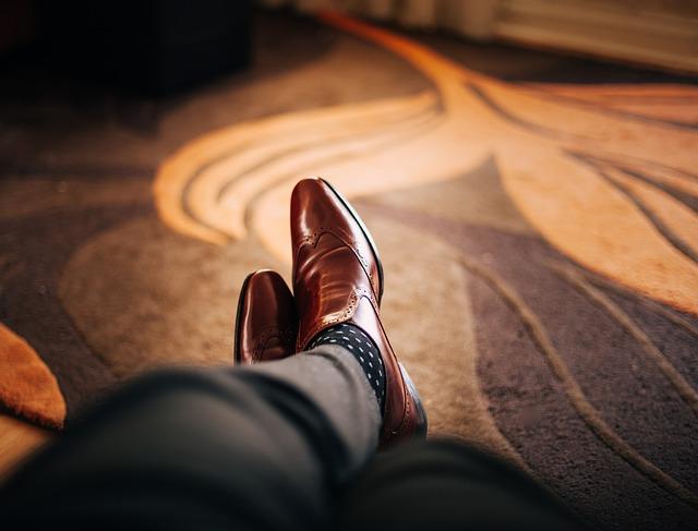 chaussure en cuir