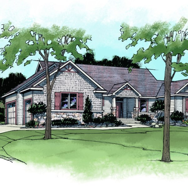 Color Rendering of Home in Perspective