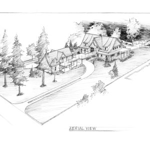 Aerial View of Proposed Lake House Site Plan
