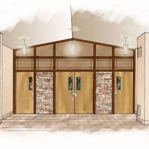Design Sketch for Church Narthex   Concept