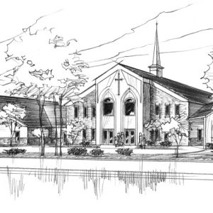 Rough Concept Sketch of Proposed Church Addition