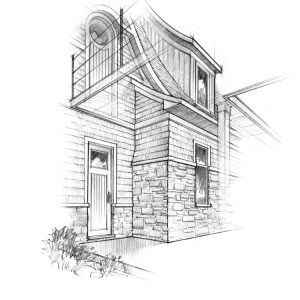 Detail Sketch of Proposed Front Entry