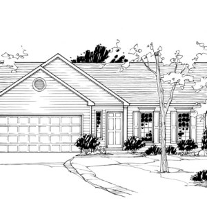 Enhanced Line Rendering of Model Home