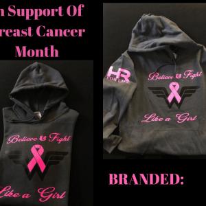 Hr4life breast cancer hoodie 2018