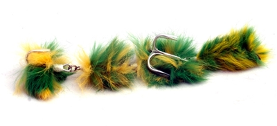Mousefishing mouse lure 22cm Green Parakeet
