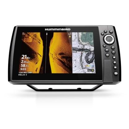 Hollandlures HUMMINBIRD HELIX 9 CHIRP MEGA SI+ GPS G4N 411380-1M front down