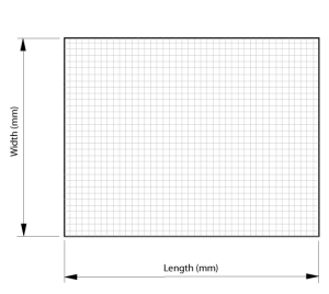 Standard mesh foil sheet style 1