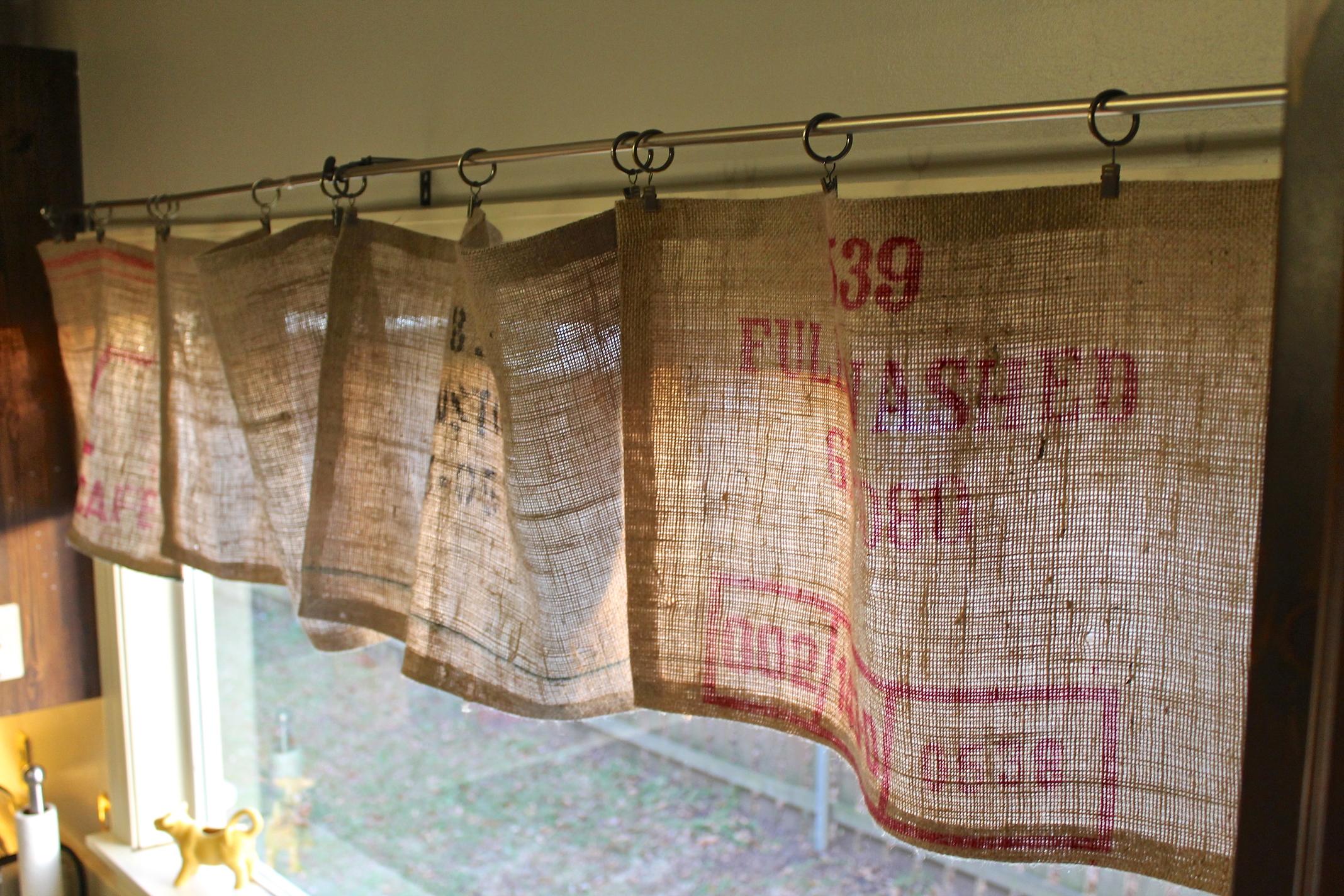 diy no sew burlap curtains crystal