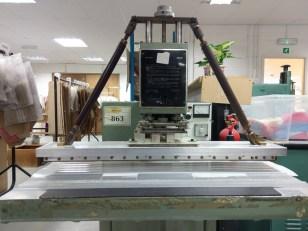 An Ardwick Heirloom, this machine makes belts