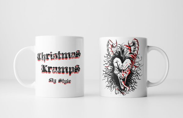 Both Sides of Christmas Kramps My Style Mug - Krampus mug