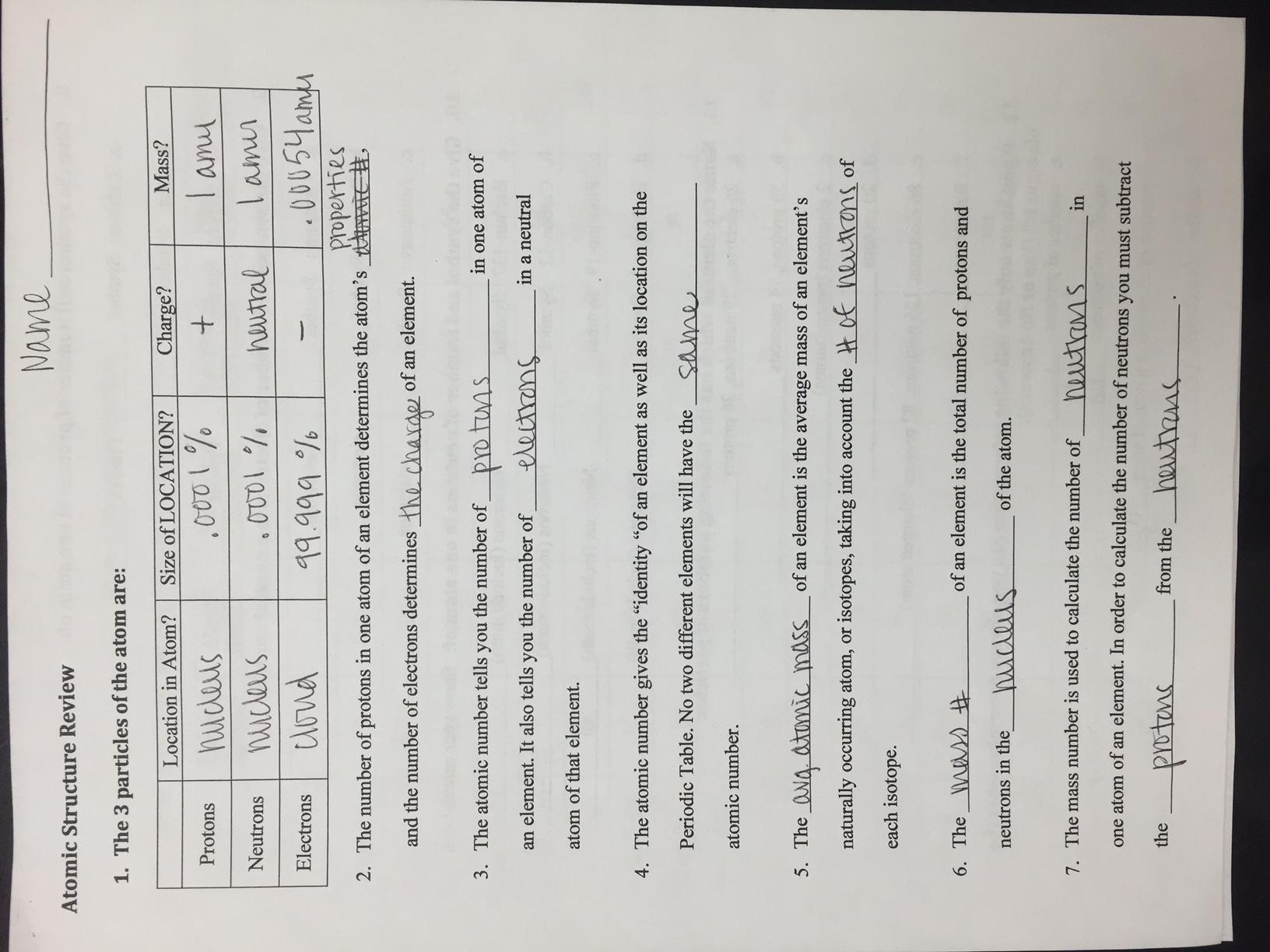 Electron Configuration Worksheet 2 Answer Key