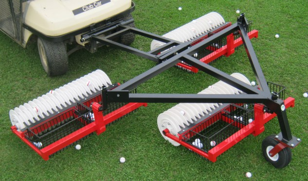 3 gang staggered commercial golf ball picker, lightweight