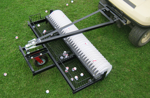 A-frame golf ball picker