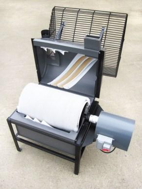 Commercial golf driving range ball washer inside