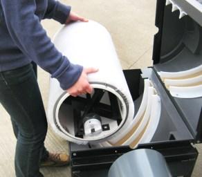 Commercial golf range ball washer scrubbing brush