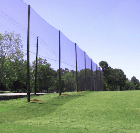 Commercial golf driving range netting
