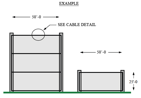 custom golf driving range netting diagram