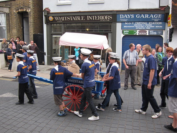 Scouts lead with symbolic oysters