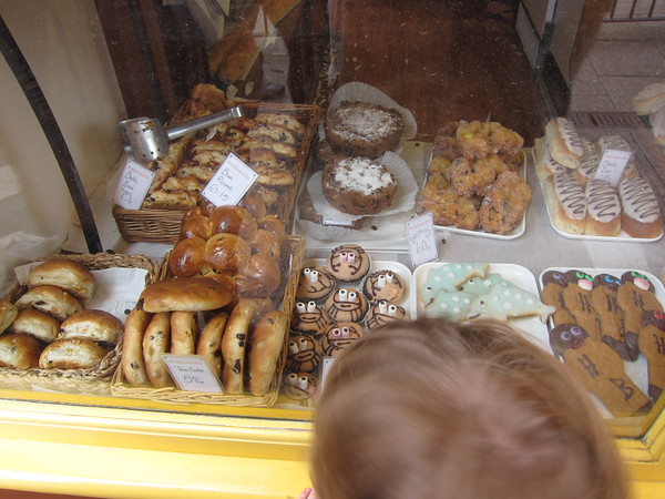 Charlie checks out the goodies
