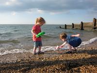 Charlie shovels the sea