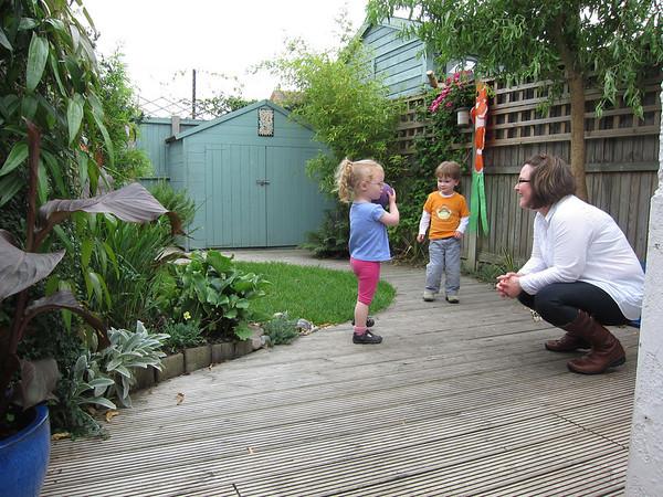 Exploring our new garden