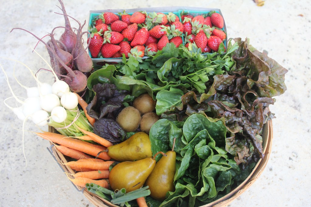 CSA Basket | With Strawberries
