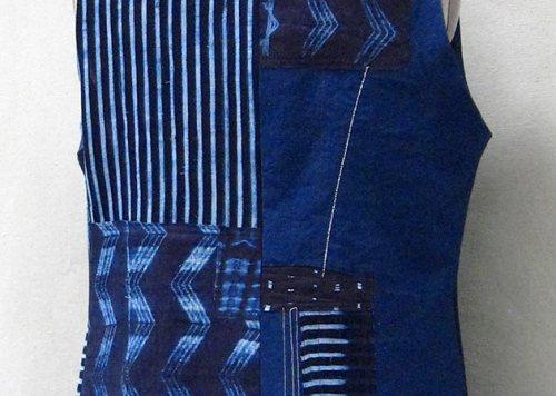 Indigo Cotton Vest - Back
