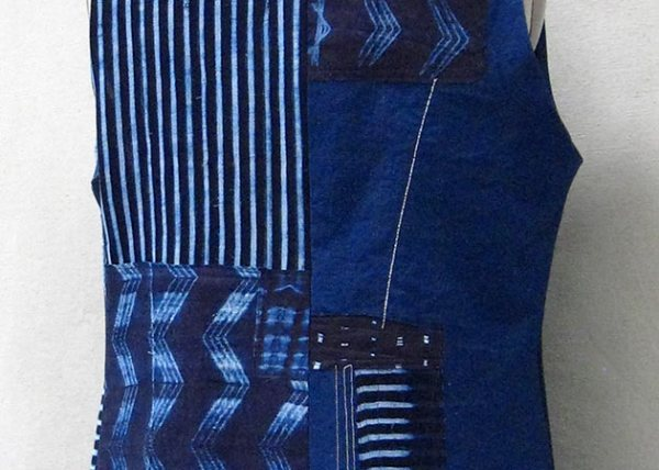 Indigo Cotton Vest - Back