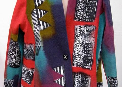Kundun Silk Screened Rag Wool Jacket