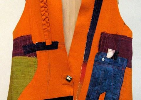 Orange Pocket Vest