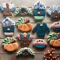 Thanksgiving + Fall Cookies