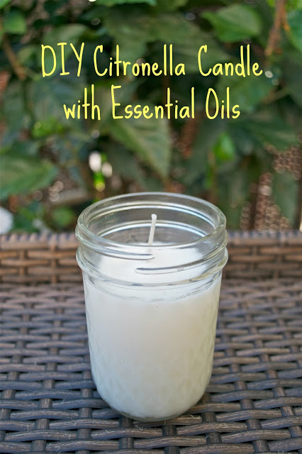 DIY Bug Repellent Candle with Essential oils