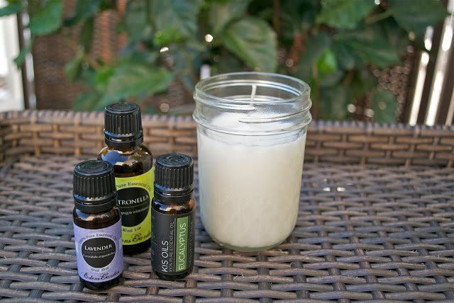 DIY Bug Repellant Candle with Essential Oils