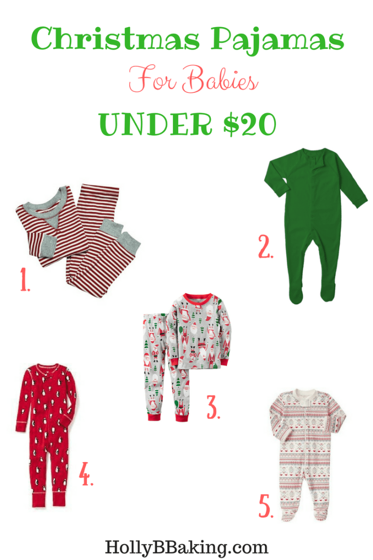 Christmas Pajamas for Babies Under $20