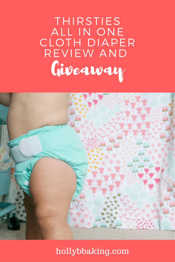 Thirsties Natural One Size All In One Cloth Diaper Review and Giveaway