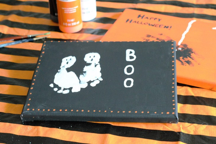 Baby and toddler Halloween Art Party