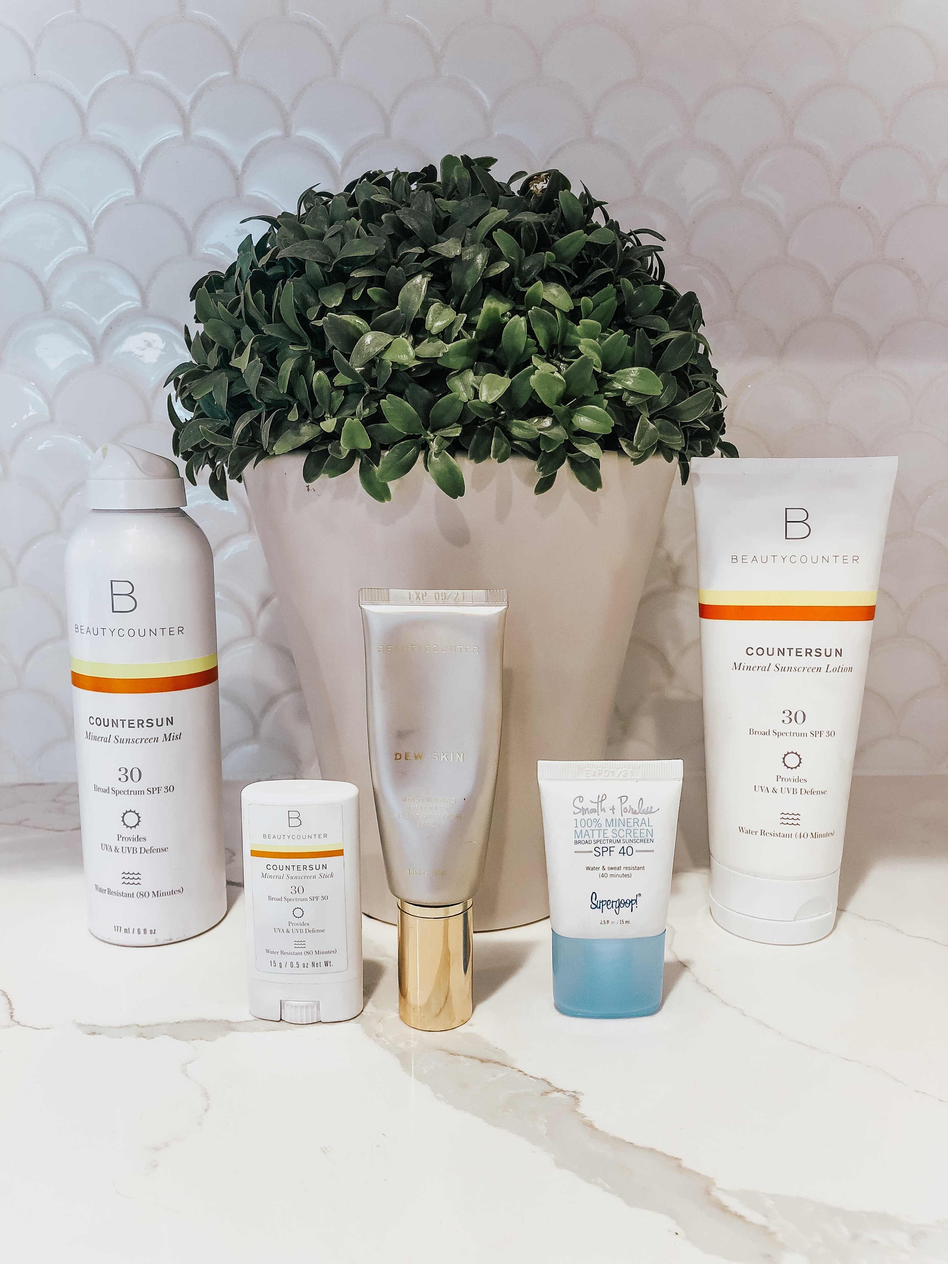 Beautycounter  and supergoop clean SPF sunscreen