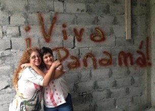 "My sweet amiga, Holly, and I. We all got a chance to ""tag"" the walls!"