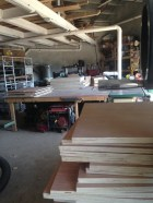 look at all those boards that will soon be cabinets!