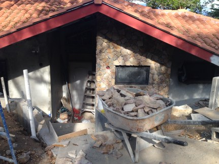 the stone on the front of the casita turned out nice too