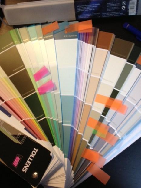 En pleine étude de couleur