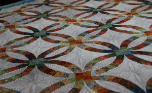 Looking across the quilt