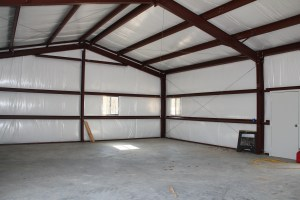 Lots and lots of space - we were both surprised by how light it was in the barn.    The white insulation really keeps it bright