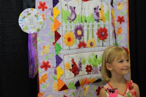 The proud winner - she still thinks she won the quilt show - don't you tell her any different!