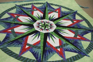 "I taught a couple of ""quilt til you wilts"" at the local quilt shop and this was Sari's quilt."